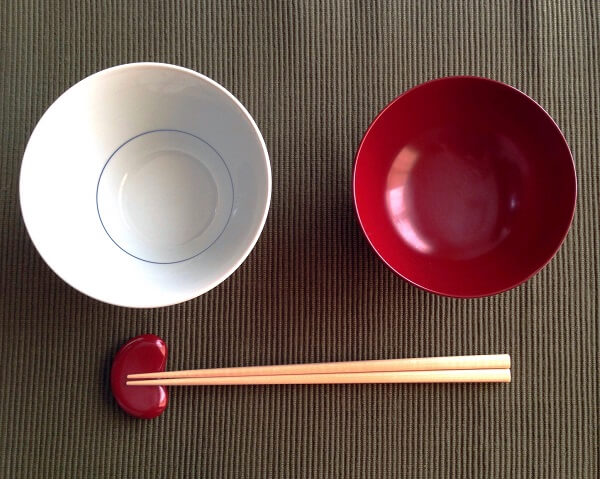 無印の茶碗とお椀