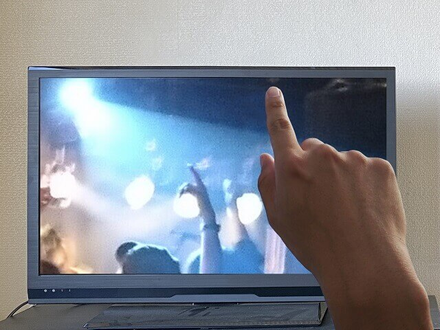 ライブを映すテレビ